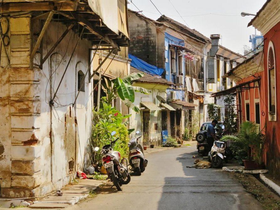 koloniale Gasse in Panjim, Goa