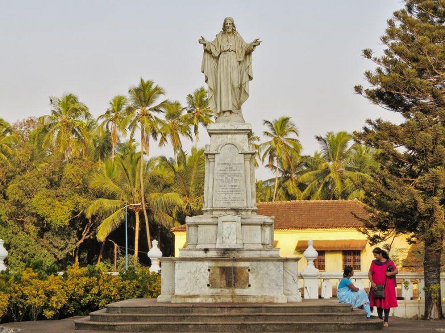 Jesusstatue in Velha Goa