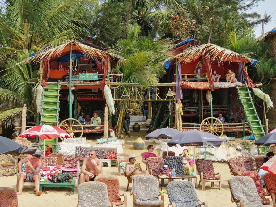 Strandbar in Anjuna, Goa, Indien