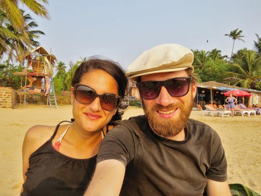 Paar in Anjuna, Goa, Indien