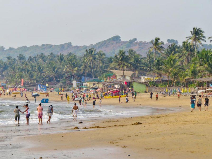 unterwegs am Strand von Anjuna, Goa