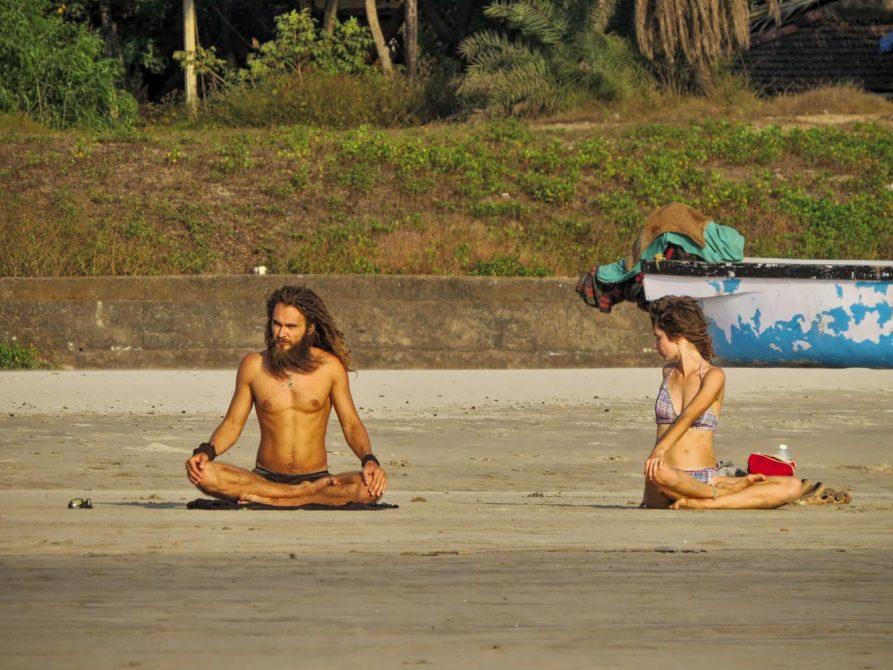 Yogis in Arambol, Goa, Indien