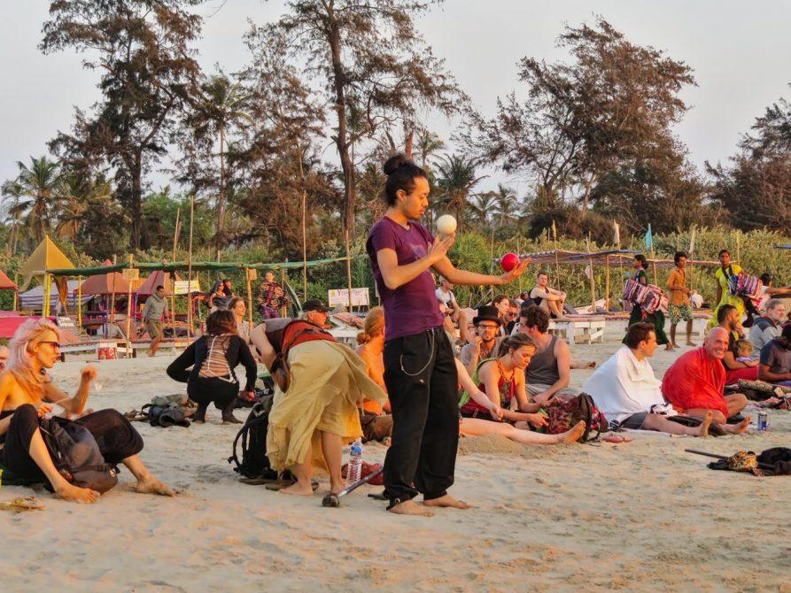 Hippies und Hedonisten in Arambol, Goa, Indien
