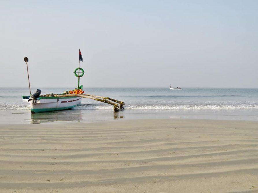 Fischerboot in Goa, Indien