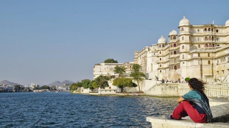 Pichola See und Stadtpalast, Udaipur, Rajasthan