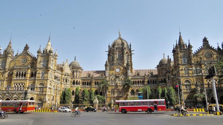 koloniales Gebäude, Bahnhof CST, Mumbai, Indien