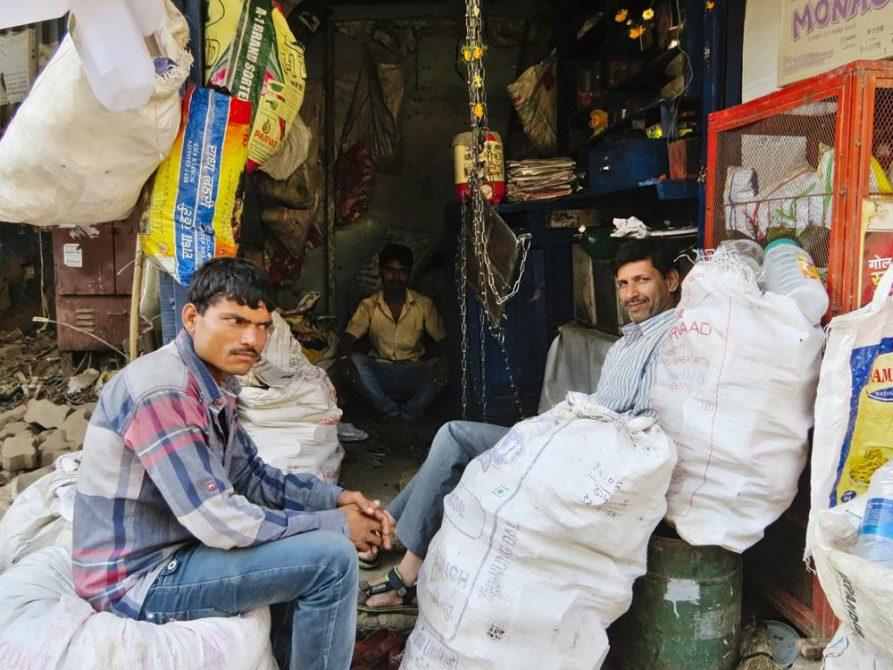 Händler in Dharavi, Mumbai, Indien