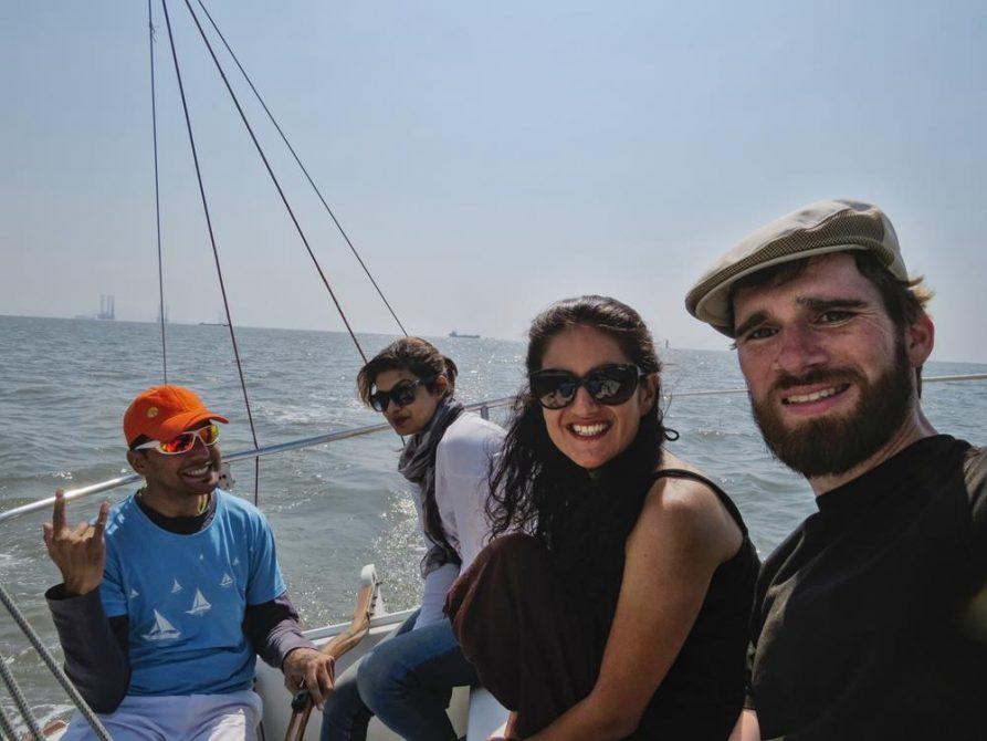 segeln auf dem Arabischen Meer, Mumbai, Indien