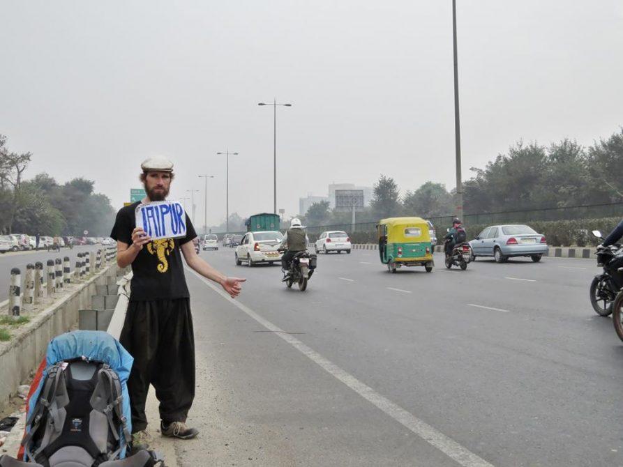 Per Anhalter durch Rajasthan, Indien,