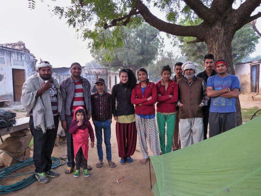 Weiler und Dorfgemeinschaft in Rajasthan, Indien