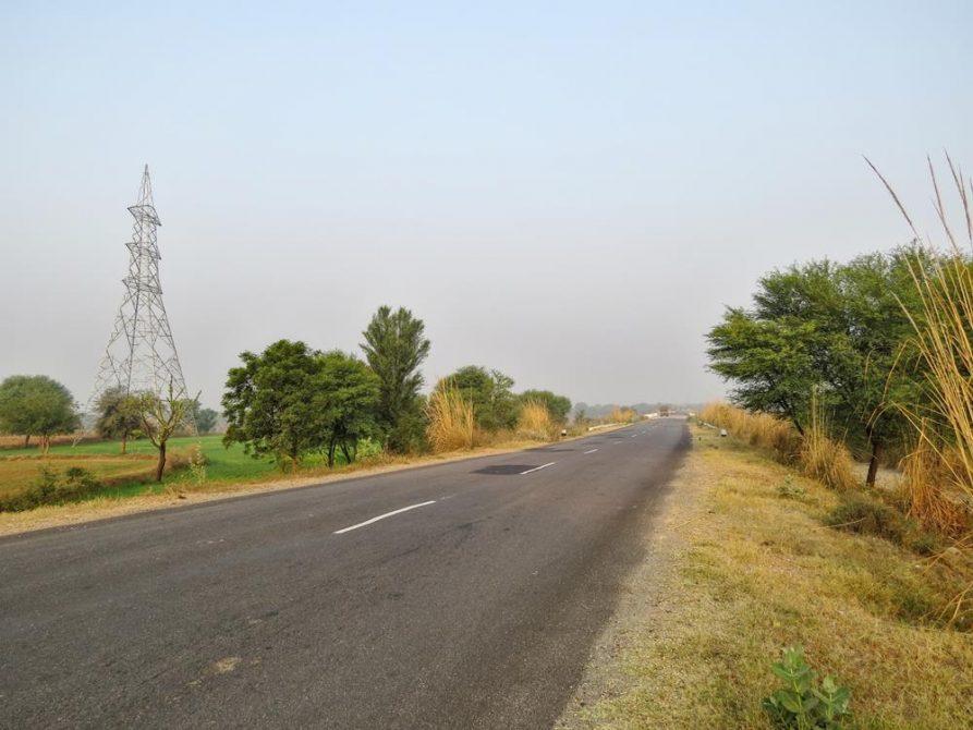 Per Anhalter, Rajasthan, Indien,