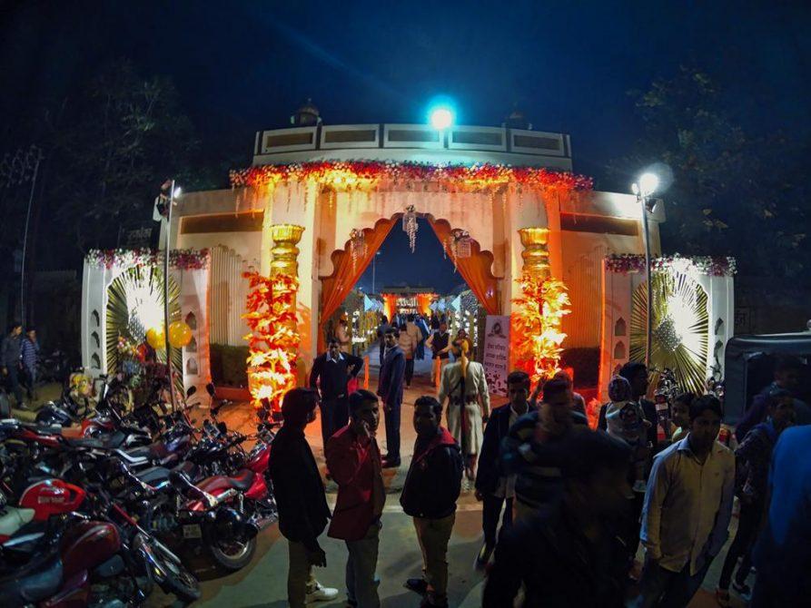 Eingangsbereich, indische Hochzeit, Jaipur, Rajasthan, Indien