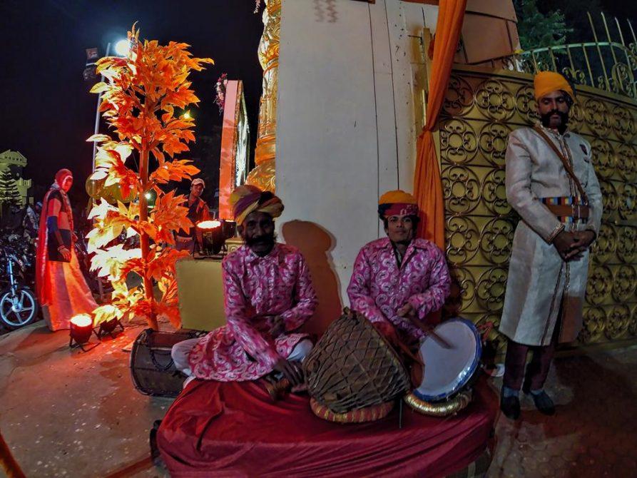 Musiker, indische Hochzeit, Jaipur, Rajasthan, Indien