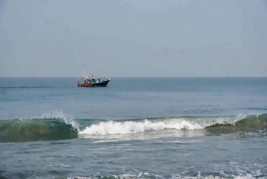Fischerboot, Arabisches Meer, Kerala, Indien