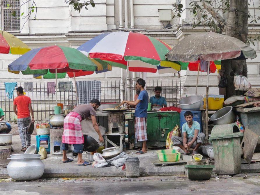 Garküchen, Sudder Street, Kolkata, Indien