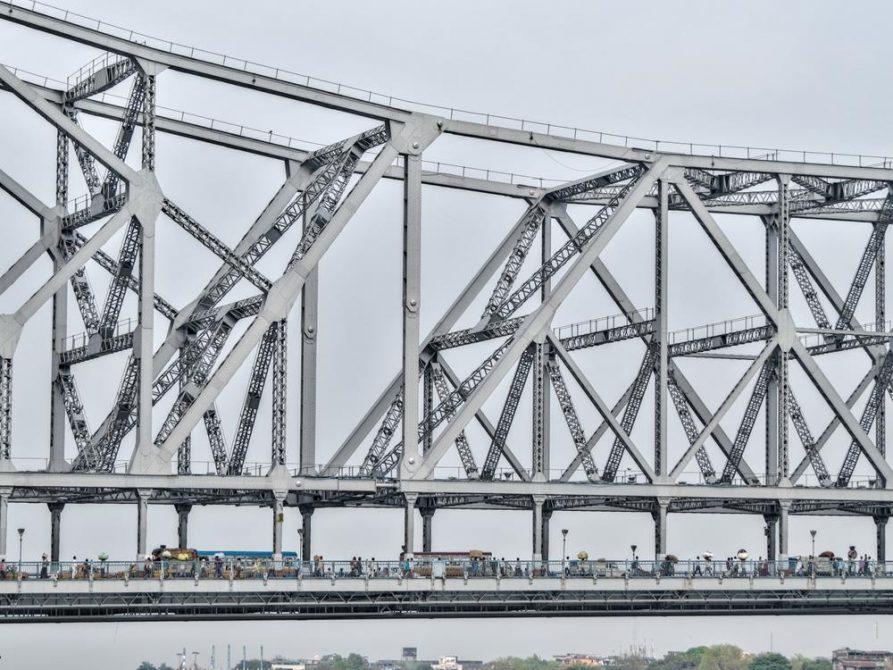 Howrahbrücke, Kolkata, Indien