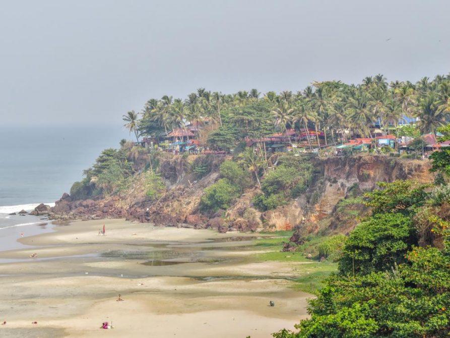 Klippen, Varkala Strand, Kerala, Indien