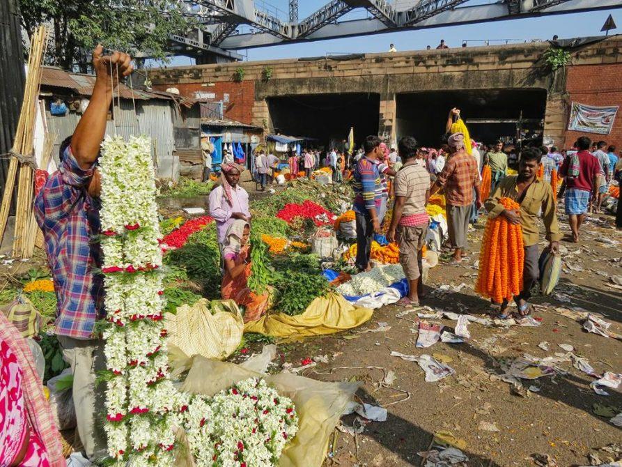 Blumenmarkt, Kolkata, Indien