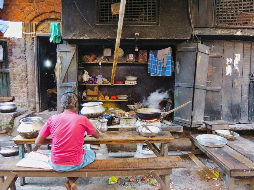 Garküchen, Kolkata, Indien