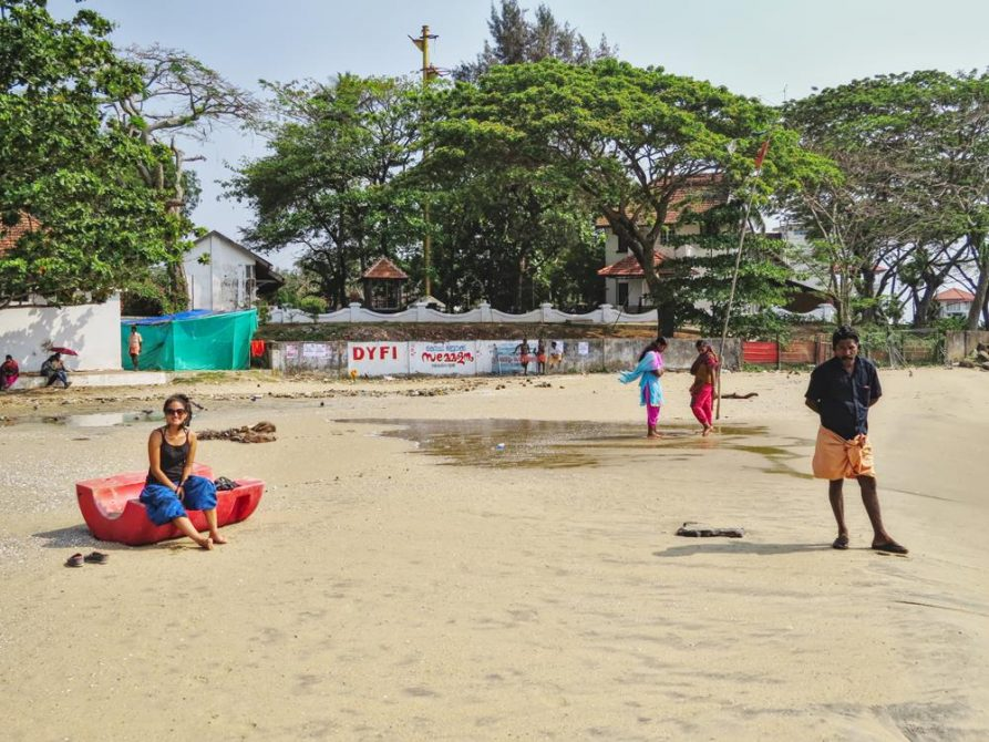 Strand, Kochi, Kerala, Indien