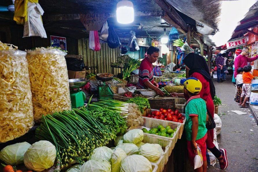 Gemüse auf dem Markt, Bukittinggi, Sumatra, Indonesien