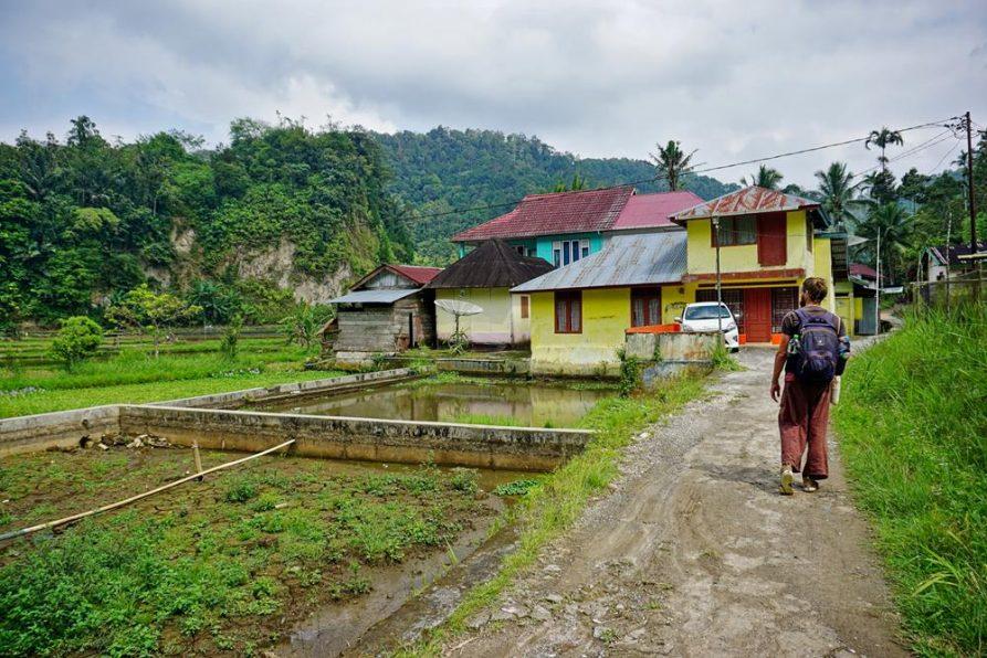 Siedlung im Dschungel, Sumatra, Indonesien