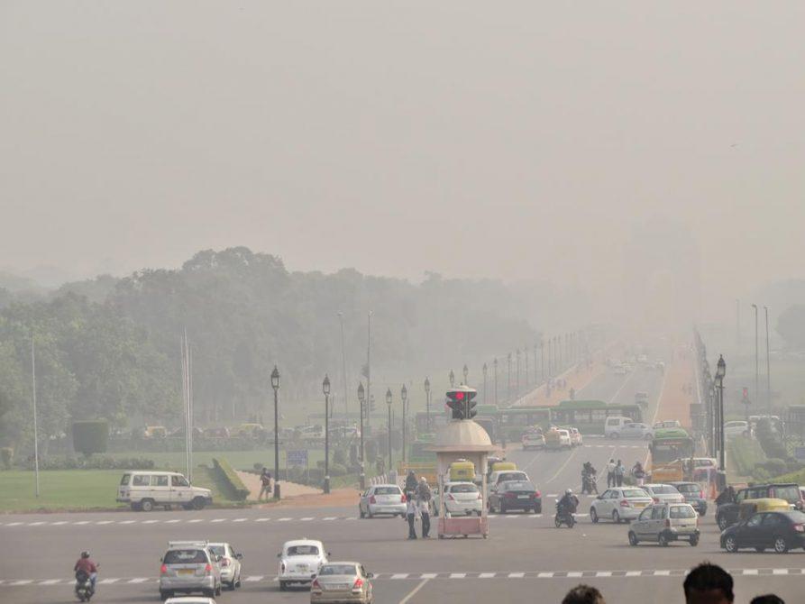 Rajpath, Smog, Delhi, Indien