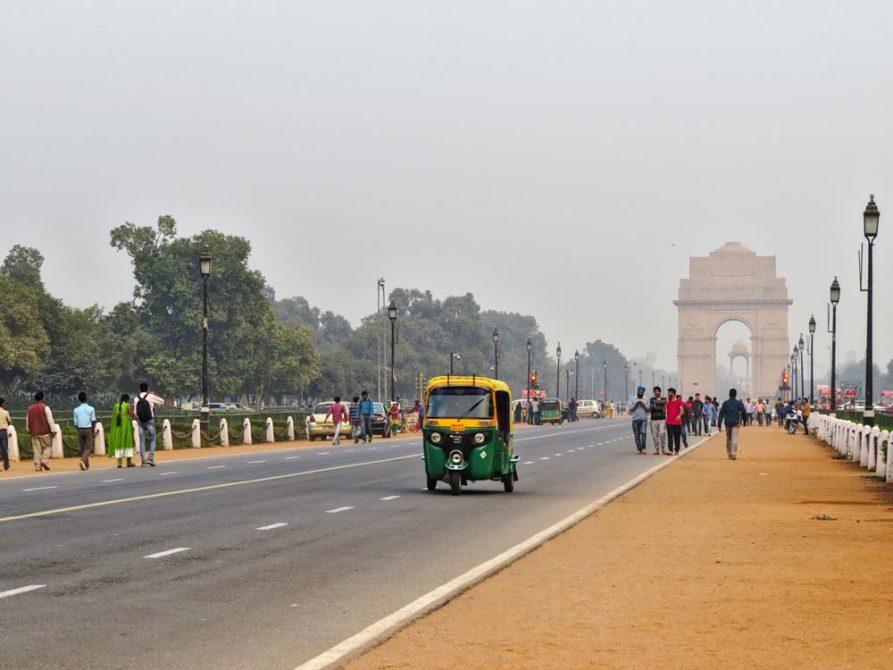 Rajpath und India Gate, Delhi, Indien