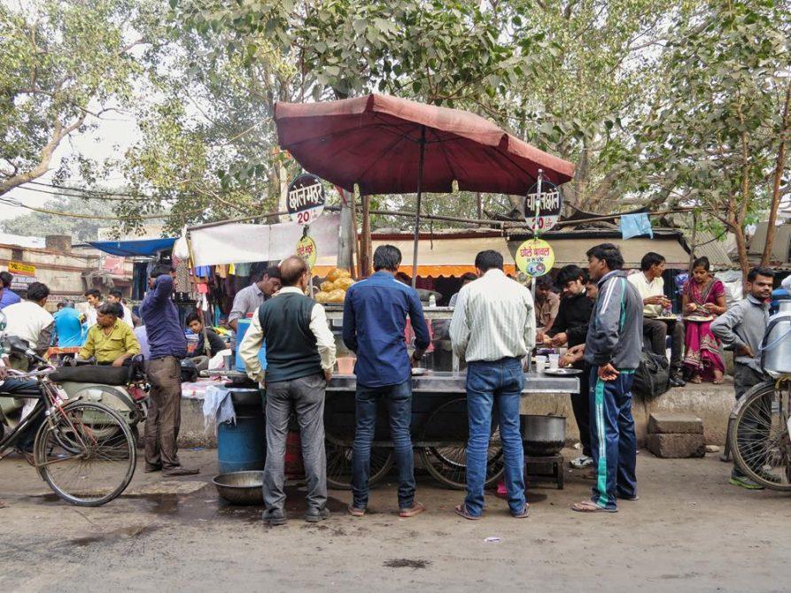 mobiler Verkaufsstand, Old Delhi, Indien