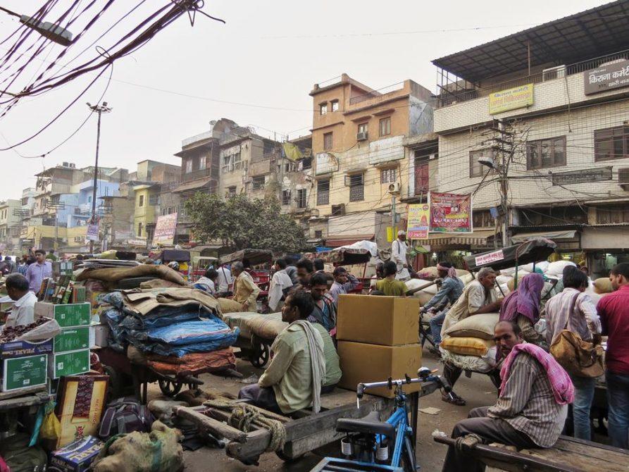 Arbeiter und Tagelöhner in Old Delhi, Indien