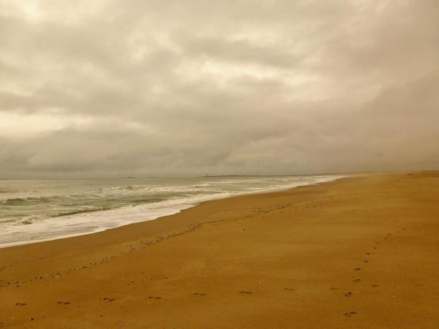 bedeckter Himmel über dem Atlantik, Uruguay