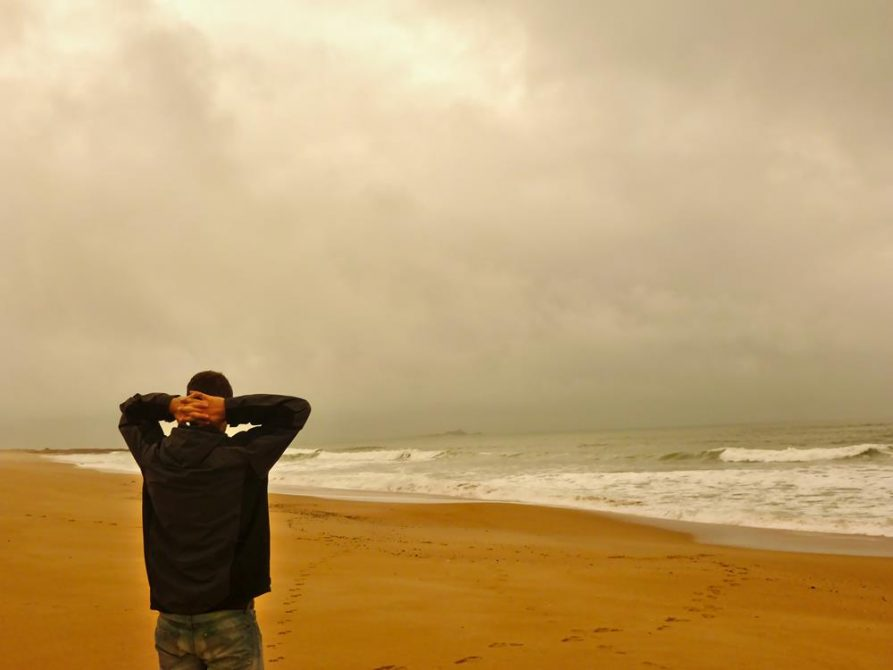 Mann am Meer, Uruguay