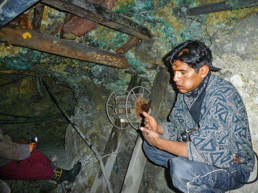 ehemaliger Minenarbeiter im Cerro Rico