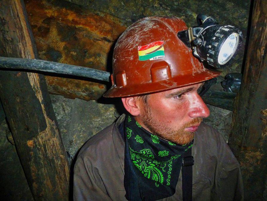 junger Mann in der Mine, Cerro Rico, Potosi