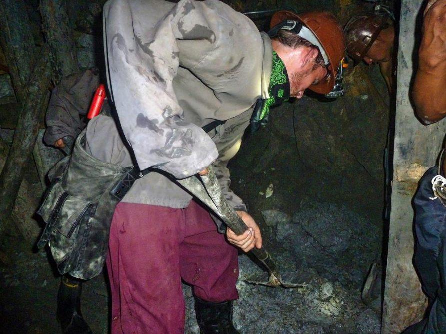 Arbeit im Stollen, Cerro Rico, Potosi
