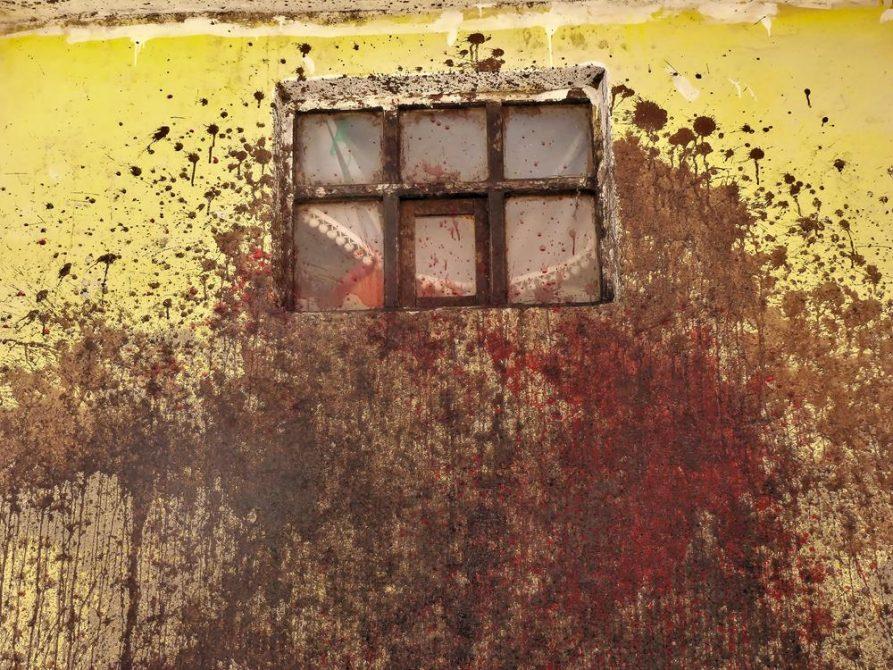 blutverklebte Hauswand, Cerro Rico, Potosi
