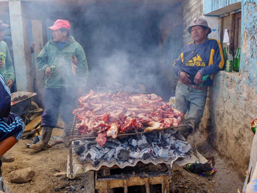 BBQ der Minenarbeiter, Potosi