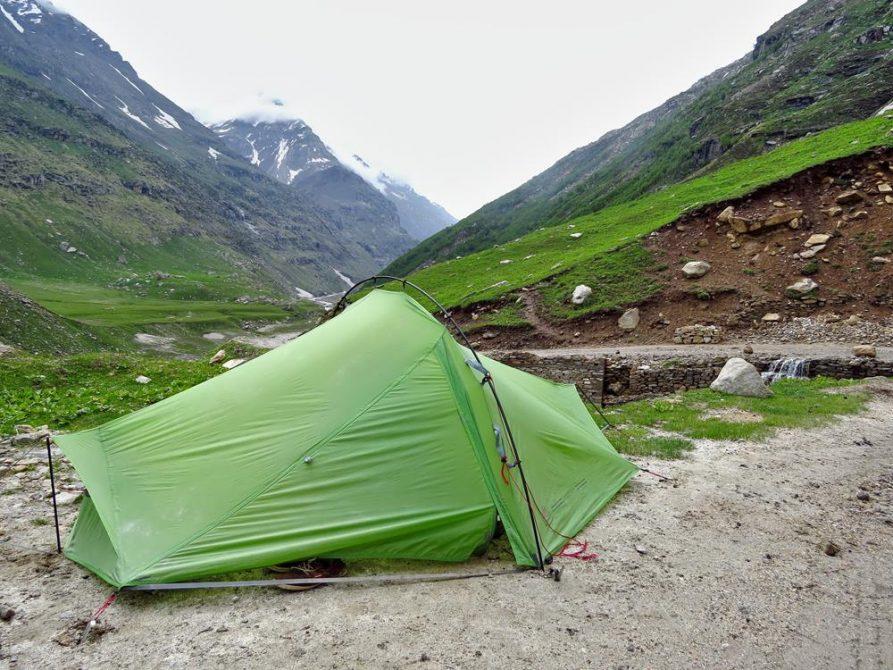 Zelten im Himalaja