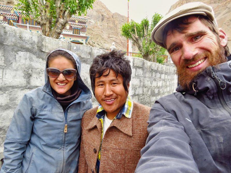 drei Menschen, Spiti, Indien