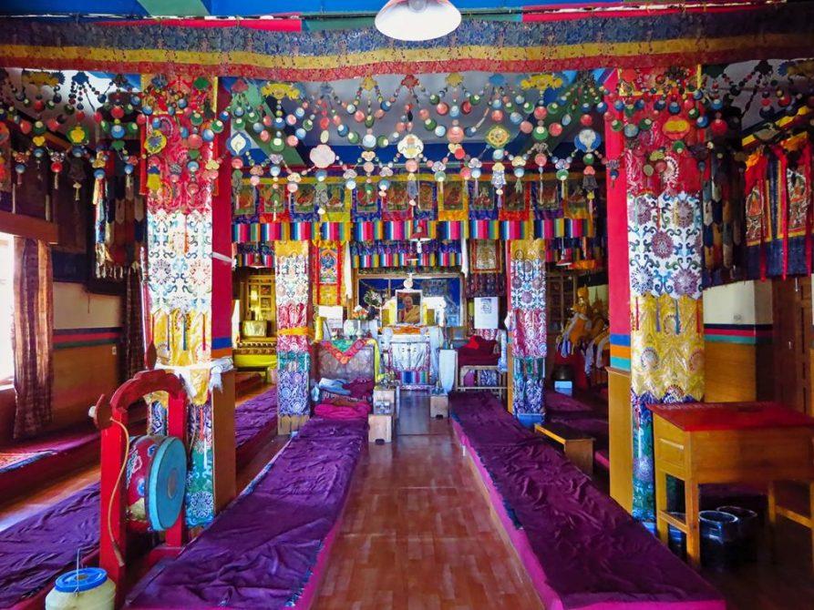 Gebetshalle, Ki Gompa, Spiti Tal, Himachal Pradesh
