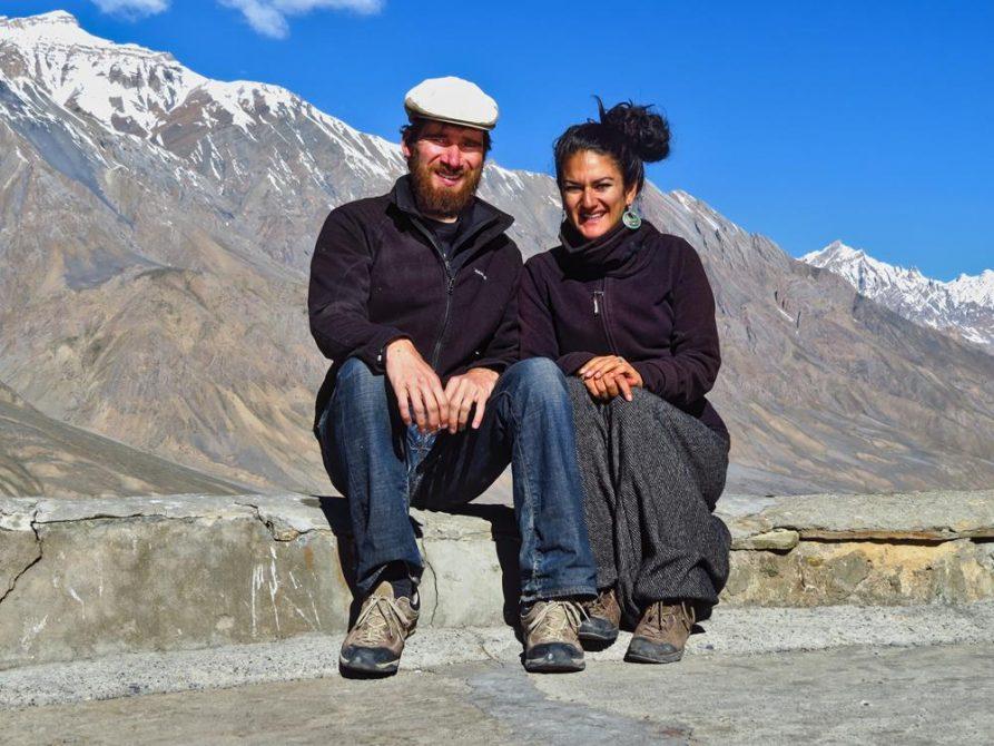 Paar im Spiti Tal, Indien