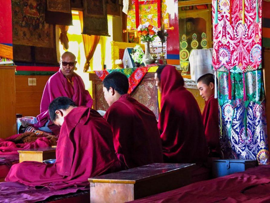 Mönch und Anwärter, Ki Gompa, Spiti