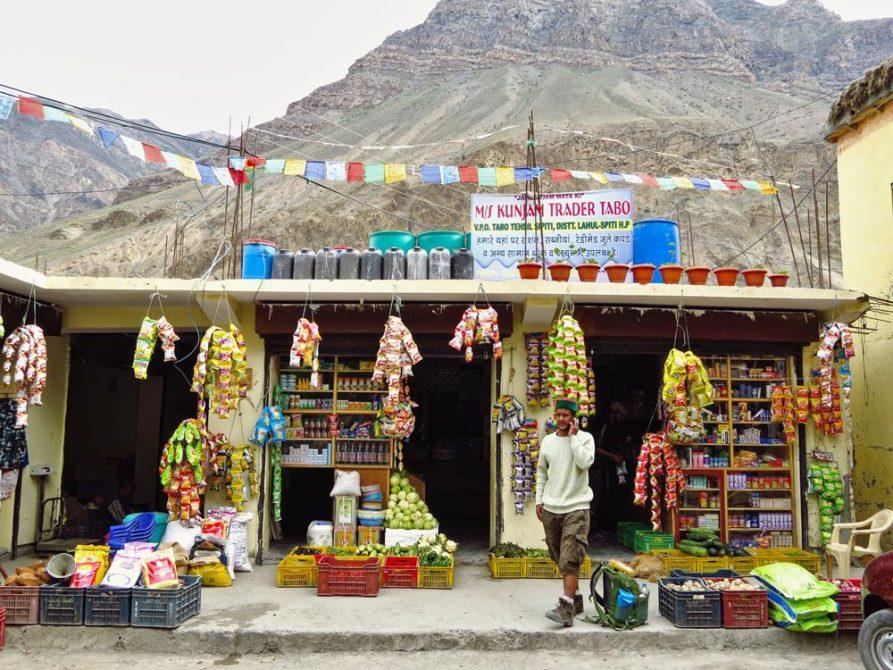 Geschäft in Tabo, Spiti
