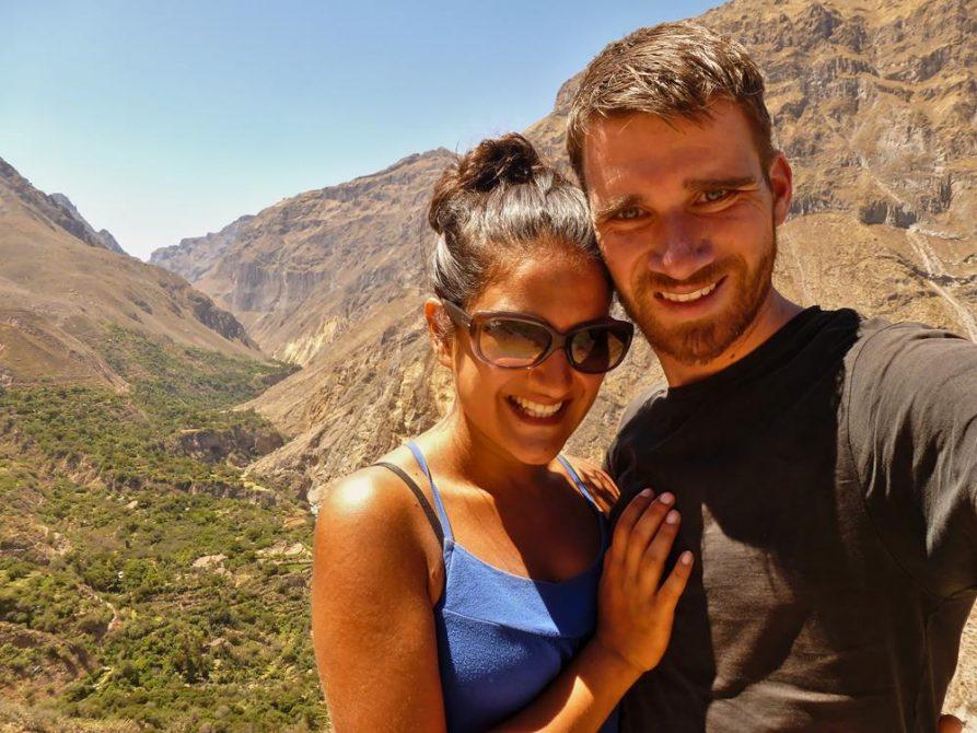 Paar im Colca Canyon, Peru