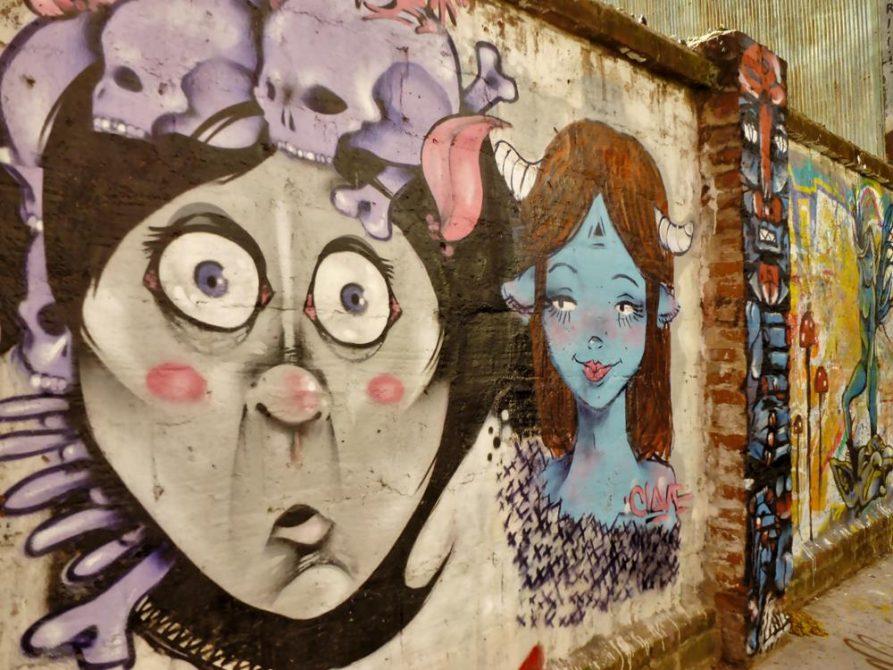 Wandbild in Valparaiso, Chile