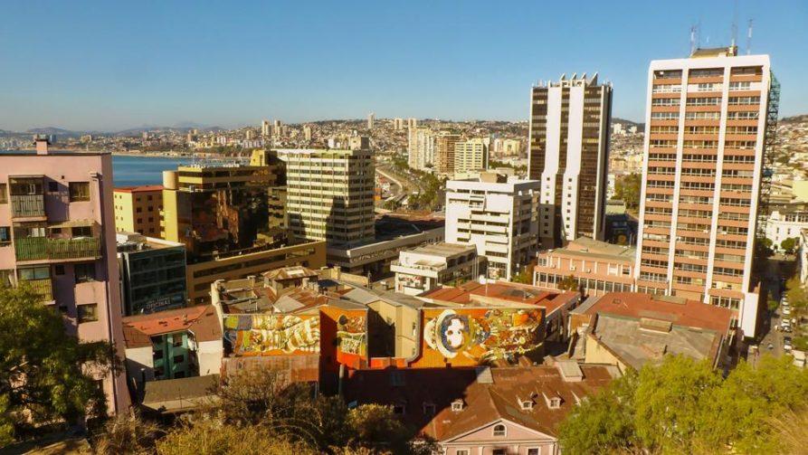 Blick über Valparaiso, Chile