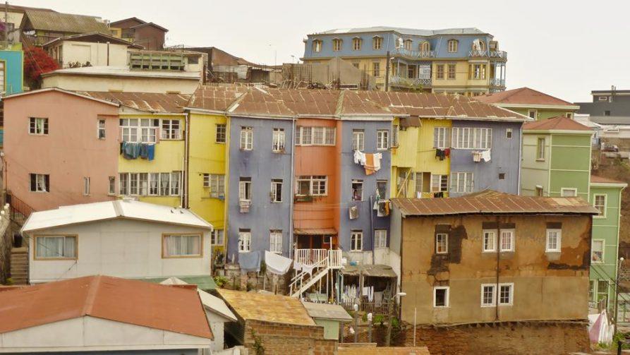 bunte Hausfassaden in Valparaiso, Chile