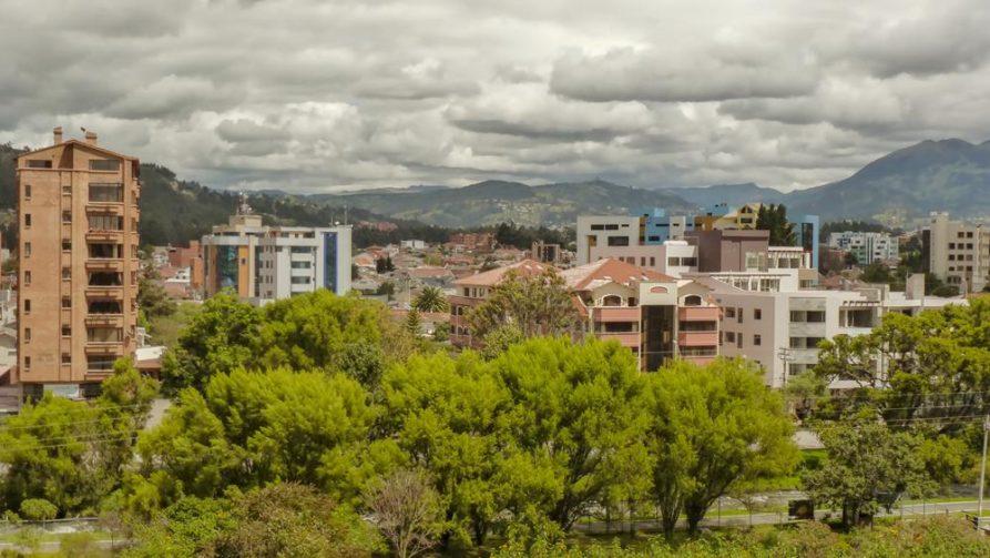 Cuenca, Stadtpanorama, Ecuador