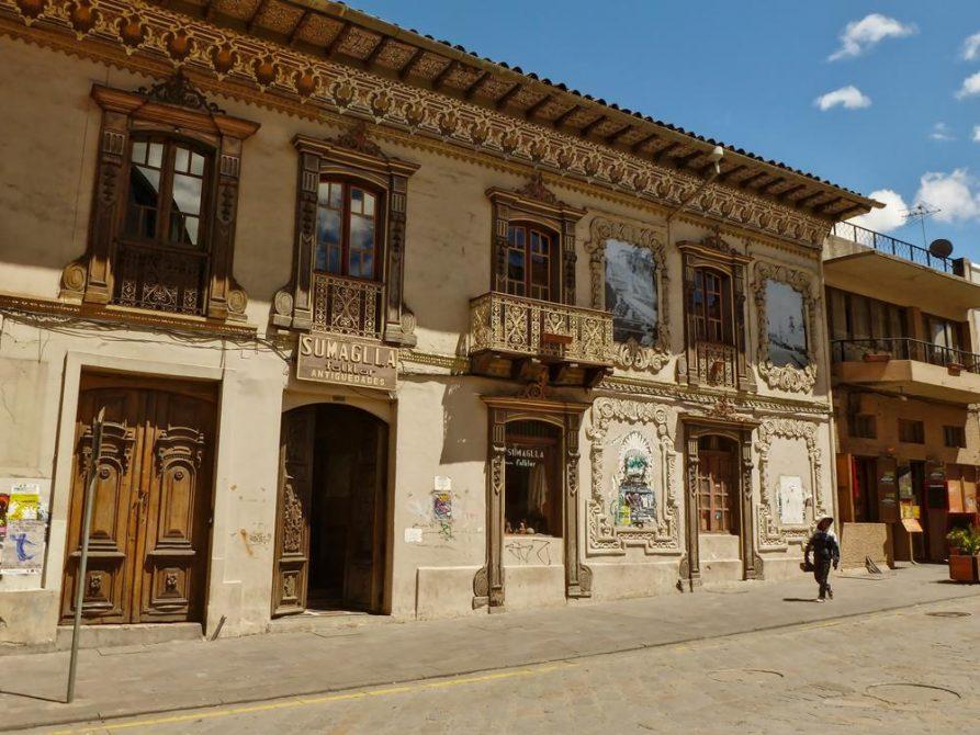koloniales Gebäude, Cuenca, Ecuador