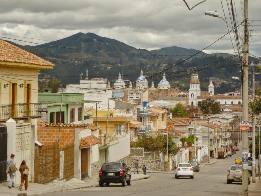 Blick auf das Zentrum von Cuenca, Ecuador